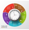 circles elements for timeline infographic vector image vector image