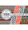 colorful ethnic patterns collection set of 4 vector image