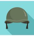 combat helmet icon flat style vector image