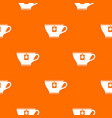 cup with teabag pattern seamless vector image