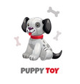 cute funny textile puppy toy plush vector image