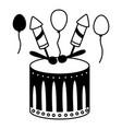 drum fireworks carnival vector image vector image