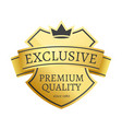 exclusive premium quality since 1980 golden label vector image vector image