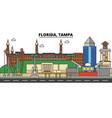 Florida tampa city skyline architecture vector image