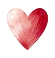 Foil Paint Heart on White Background Love vector image vector image