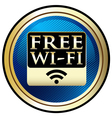 Free WiFi Emblem vector image vector image