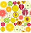 Fruit Slices Background Pattern vector image