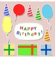 Happy birthday stickers set vector image