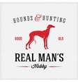 Hounds and Hunting Real Mans Hobbies Abstract vector image