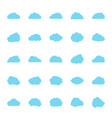 icon set clouds vector image vector image