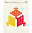infographic Web Template for diagram or vector image vector image