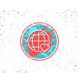 international love line icon heart symbol vector image vector image
