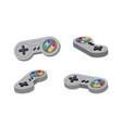 joystick set different angles gamepad console vector image