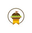 king burger logo design template vector image