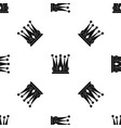 kingly crown pattern seamless black vector image vector image