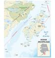 map kodiak archipelago alaska usa vector image vector image