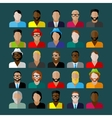 men appearance icons people flat icons collection vector image vector image