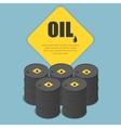 Metal oil barrel Oil petroleum tank car tanker vector image