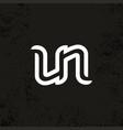 modern professional sign logo un monogram vector image