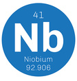 Niobium chemical element vector image vector image