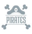 pirate bone logo simple gray style vector image vector image