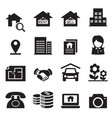 real estate icons symbol set vector image vector image