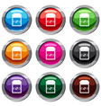 ring in a velvet box set 9 collection vector image vector image