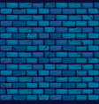 seamless blue brick wall background texture vector image vector image