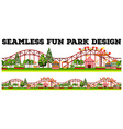 Seamless fun park design with many rides