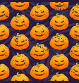 seamless pumpkin pattern for halloween holidays vector image vector image