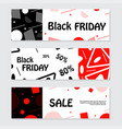 set of black friday banners design for web vector image