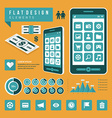 Set of Flat technology icons vector image vector image