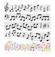 set of hand drawn music notes music design vector image