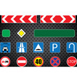 set of road signs eps10 vector image