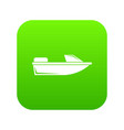 sports powerboat icon digital green vector image vector image