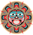 sun in native american style vector image vector image