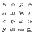 thin line icons - seo vector image vector image