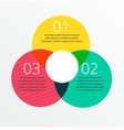 three steps infographic design with space vector image vector image