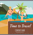 time to travel lettering flat vector image