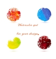 Watercolor brush strokes and circle splashes vector image vector image
