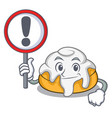 with sign cinnamon roll character cartoon vector image