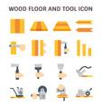 wood floor icon vector image