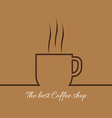 A cup of coffee with steam with the best coffee sh vector image