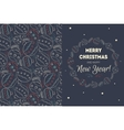 Holiday background with christmas balls snow vector image