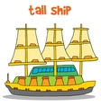 art of tall ship vector image