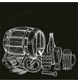 vintage beer on black background vector image