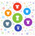 7 tshirt icons vector image vector image
