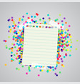 a paper label and colorful dots vector image vector image