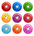 a set of colored buttons vector image vector image