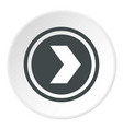 arrow to right in circle icon circle vector image vector image